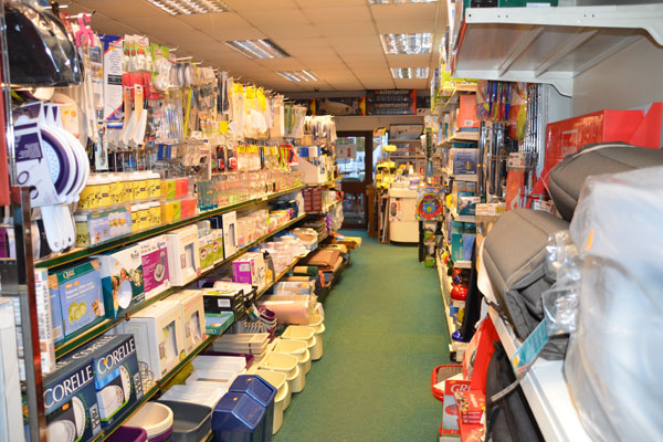 Shop interior displaying caravan accessories
