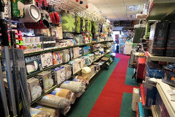 Shop interior displaying caravan accessories